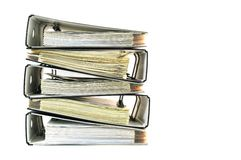 Stack of office files Royalty Free Stock Images