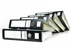 Stack of office files Stock Images