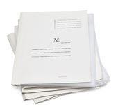 A stack of office folders Stock Photos