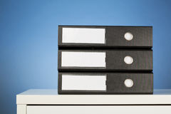 Stack of Office Folders Stock Photo