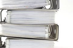 Stack of office ring binders Stock Photos