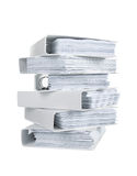 Stack of office ring binders Royalty Free Stock Photography