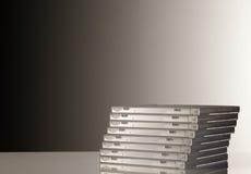 Stack og cd cases Stock Images