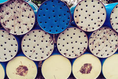 Stack of  oil barrel use for background Stock Images
