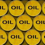 Stack oil barrels Royalty Free Stock Image