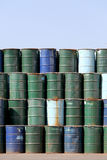 Stack of oil barrels Royalty Free Stock Image