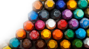 Stack of oil pastels Royalty Free Stock Images