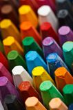 Stack of oil pastels. Close up shot of oil pastels Royalty Free Stock Photos