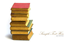Stack of old antique books Royalty Free Stock Image