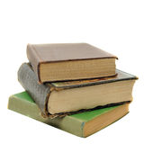 Stack of old antique vintage books Stock Image
