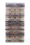 Stack of old audio cassettes Royalty Free Stock Photography