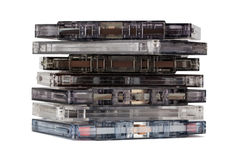 Stack of old audio cassettes Stock Photography