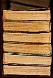 Stack of old book. Big and old books stack Stock Photo