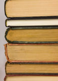 Stack of old books. A stack of old hardback books stock images
