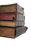 Stack of old books. On white Royalty Free Stock Photo