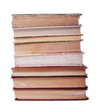 Stack of old books. A stack of old books isolated on white background Stock Photography