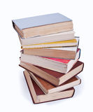 A stack of old books. On white background Stock Image