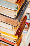 Stack of old books. Antique books background Stock Images
