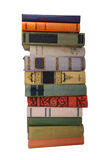 Stack of old books. Stack of old color books isolated royalty free stock photos