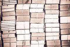 Stack of old books, abstract pattern for vintage background Royalty Free Stock Images