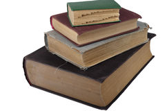 Stack of old books from the angle Royalty Free Stock Image
