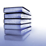 Stack of Old Books Black and White Reflection royalty free stock photos