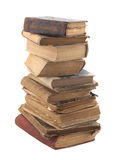 Stack of old books with clipping path Stock Photo