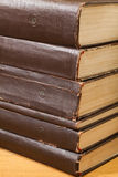 A stack of old books. A stack of old books close up Royalty Free Stock Photo