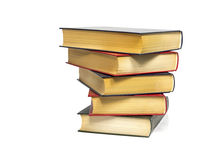 Stack of old books. Stack of closed old used brown books royalty free stock images