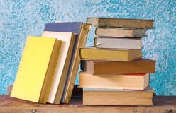 Stack of old books Royalty Free Stock Photography