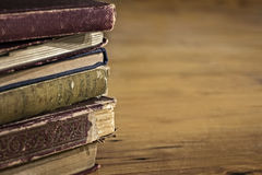 Stack of Old Books with Grunge Effects Royalty Free Stock Photography
