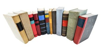 Stack of old books. Isolated on white Stock Images
