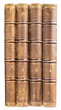 Stack of old books back isolated Royalty Free Stock Image