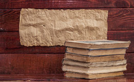 Stack old books Stock Photography