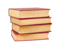 Stack of old books with red covers Royalty Free Stock Image