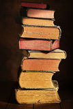 Stack of old books. With spot light Stock Image