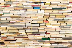 Stack of old books. In full frame background Royalty Free Stock Image