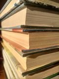 Stack of old books stock photo