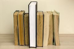 Stack of old books on the table. Stack of old books on the table Royalty Free Stock Photos