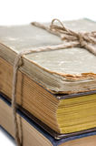 Stack of old books tied with rope Stock Images