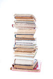 Stack Of Old Books. On white background Royalty Free Stock Photography