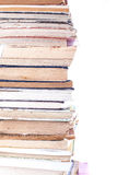 Stack Of Old Books. On white background Royalty Free Stock Photos