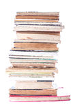 Stack Of Old Books. On white background Stock Photo