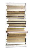 Stack of old books. On white background Royalty Free Stock Image