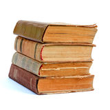 Stack of old books. On white background Stock Photography