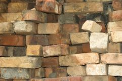 Stack of old brick Royalty Free Stock Photography