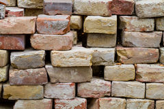 Stack of old bricks Royalty Free Stock Photo