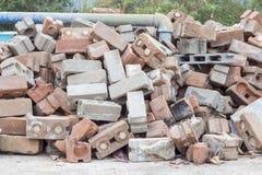 Stack of old Bricks. Stock Photos