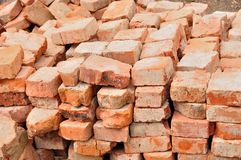 Stack of old bricks Royalty Free Stock Photos