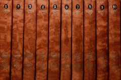 Stack of old brown books close-up. Books background place for text. Stack of books. royalty free stock photo